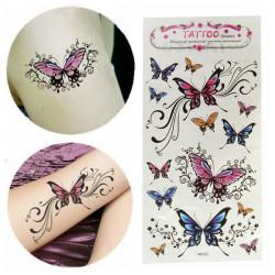 Vandtæt Aftagelig Midlertidig Sommerfugl Tatovering Mærkat Body Art