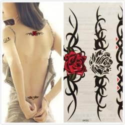Vandtæt Sexy Kvinder Rose Totem Midlertidig Tatovering Sticker Body Art