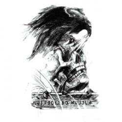 YCTF SKRIVA Tillfällig Eagle Skeleton Tatuering Transfer Karosser Klistermärke