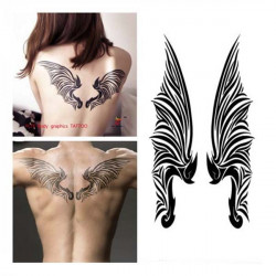 YCTF Temporary Waterproof Tattoos Wings Tattoo Stickers