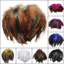 100st Fluffiga Fashion Rooster Fjäder Craft DIY 6-8