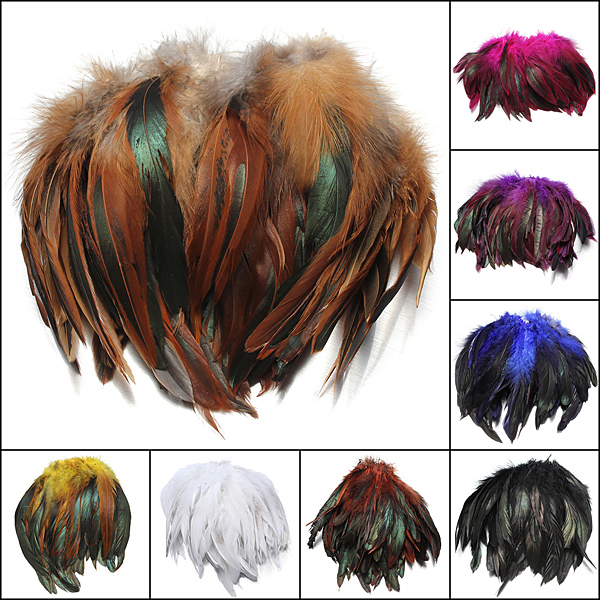 100pcs Fluffy Fashion Rooster Feather Craft DIY 6-8 Home Decor