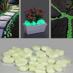 10Pcs Luminous Light Emitting Artificial Pebble Stone Home Decoration Home Decor