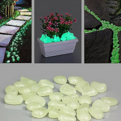 10er Luminous Light Emitting Künstliche Pebble Stone Home Decoration