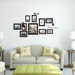 10st Photo Frame DIY Set Vinyl Decal Decor Home Art Väggdekal