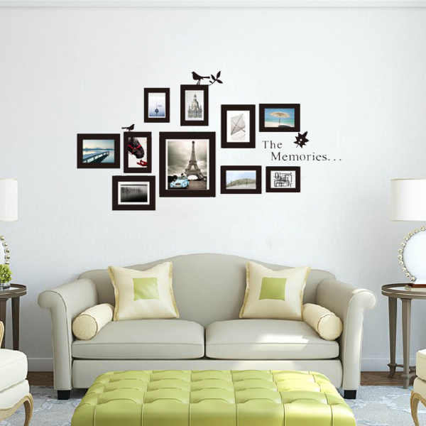 10stk Fotoramme DIY Set Vinyl Decal Decor Home Art Wallsticker Boligudstyr