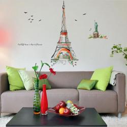 120 * 140 Eiffeltornet Handmålade Väggkonst Klistermärken