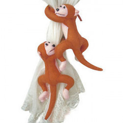 1Pair Monkeys Curtain Buckle Tiebacks Holder Window Drapery Decoration