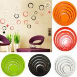 1 Set Cirklar Creative Stereo Flyttbar 3D DIY Väggdekaler Heminredning