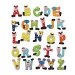26stk Holz Alphabet Magnete Bildungsstudie Kinder Spielzeug Haus Dekoration