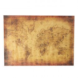 28x20 Inch Vintage Style Poster Antique World Map Treasure Map