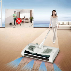 2 In 1 Swivel Sweeper Cordless Elektrisk Robot Cleaner Sweeper And Mop