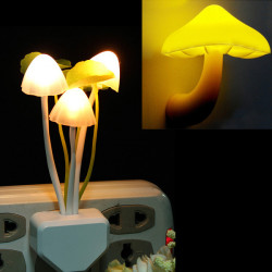 2Pcs Cute Mushroom Shape Design LED Light Nightlight Bedroom Lamp