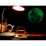 30cm Stor Måne Väggdekal Removable Glow In The Dark Sticker Heminredning