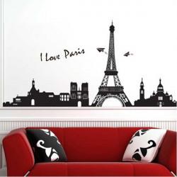 33*60CM Reuse Eiffel Tower PVC Wall Sticker TC954