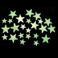 35stk Glow I Dark Stars Decal Art Wallstickers Rum Decor