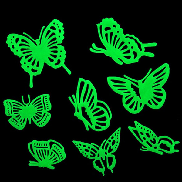 3Bags/24pcs Removable Butterfly Glow Wall Sticker Home Decor Home Decor