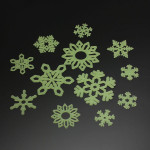 3Bags DIY julSnowflake Dekoration Glow Väggdekaler Heminredning