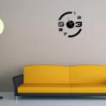 3D DIY Mirror Väggklocka Väggdekaler Heminredning Heminredning