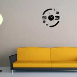 3D DIY Spiegel Wanduhr Wandaufkleber Home Decoration