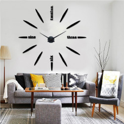 3D DIY Modern Mute Mirror Wall Clock Wall Sticker Home Decoration