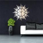 3D DIY Sol Shape Mirror Väggklocka Väggdekal Modern Heminredning Heminredning