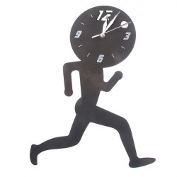 3D Home Decorative Running Man Plastic Wall Clock