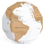 3D Scratch Globe World Map DIY Vertical World Globe Heminredning