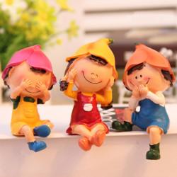 3stk Puppen zur Innenausstattung Resin Crafts Home Decoration