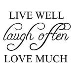 42*32cm Live Well Love Much PVC Wall Sticker Wallpaper ZY8122 Home Decor