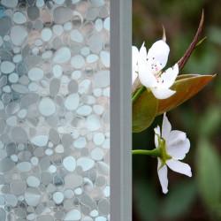45x100cm Pebbles Skjutdörr Glasfönster Klistermärke Löstagbar