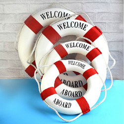 4 Size Red Mediterranean Style Decorative Life Buoy