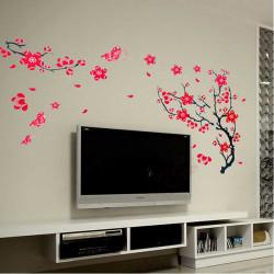 50 * 70cm Reuse Winterblüte Baum PVC Wandaufkleber XY8029