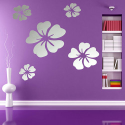 5st / Set 3D Flowers Vägg Klistermärke Dekalen Hem DIY Art Decor