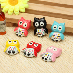 6PCS Gorgeous Owl Fridge Magnets Memo Decor Sticker