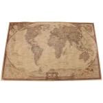 71 * 46.5cm Brown Paper Antike Weltkarte Wand Diagramm Plakat Haus Dekoration