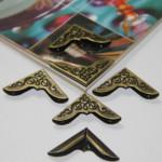 8st Antik Brons Boka Album Meny Mappar Corner Protectors Heminredning