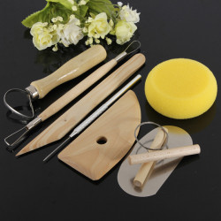 8Pcs Wood Metal Pottery Clay Ceramics Molding Carving Sculpting Tools