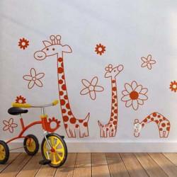 90*60CM Reuse Giraffe PVC Wall Sticker JM7080