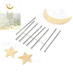 9 Tube Moon Star Wind chimes Yard Garden Outdoor Living Wind Chimes