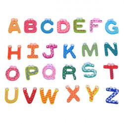 A-Z Letters Wooden Fridge Magnets Baby Educational Set