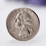 American 25 Cents Mynt Quarter Dollar Ocirkulerade Mynt Heminredning