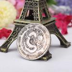 Ancient Chinese Dragon Münzen Qing Dynastie Old Silber Imitation Münzen Haus Dekoration