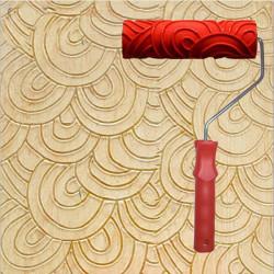 Kunst Farben Hintergrund Wand 7 Inch Rubber Geprägte Roller