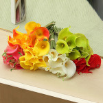 Artificiell Latex Calla Lily Blommor Bröllop Blommor Bridal Bouquet Heminredning