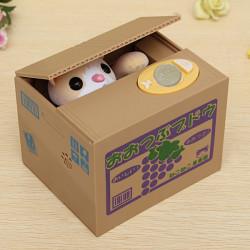 Automatische Itazura Katze stehlen Münzen Piggy Bank Einsparung Geld Kasten Kinder Spielzeug