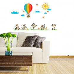 Baby Child Fire Balloon Removable Wall Decal Sticker Kid Art Mural