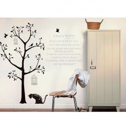 Black Tree Diy Love Secret Paster Home Decoration Wall Sticker