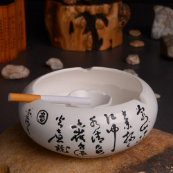 Ceramic Retro Tang Poetry Ashtray Home Decoration Creative Gift