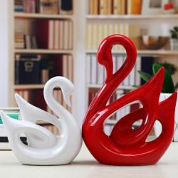Kina Keramik Lovers Swan Keramiska Hantverk Smycken Heminredning